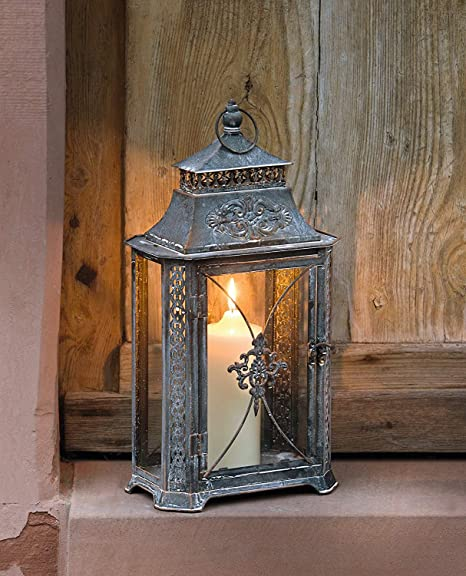Dekoleidenschaft Barroco – Farol de metal jardín Farol portavelas para velas (Soporte: Amazon.es: Hogar