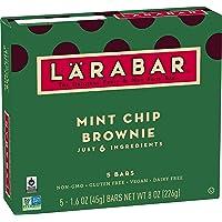 Larabar Gluten Free Bar, Mint Chip Brownie, 1.6 oz Bars (5 Count), Whole Food Gluten Free Bars, Dairy Free Snacks