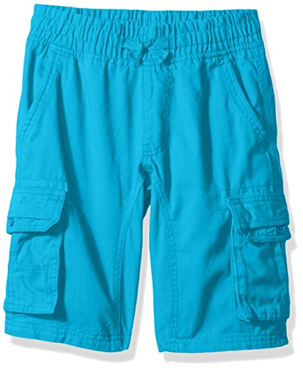 80a533c23b Southpole Boys' Big Twill Cargo Jogger Shorts in Basic Solid Colors, Ocean  Blue,