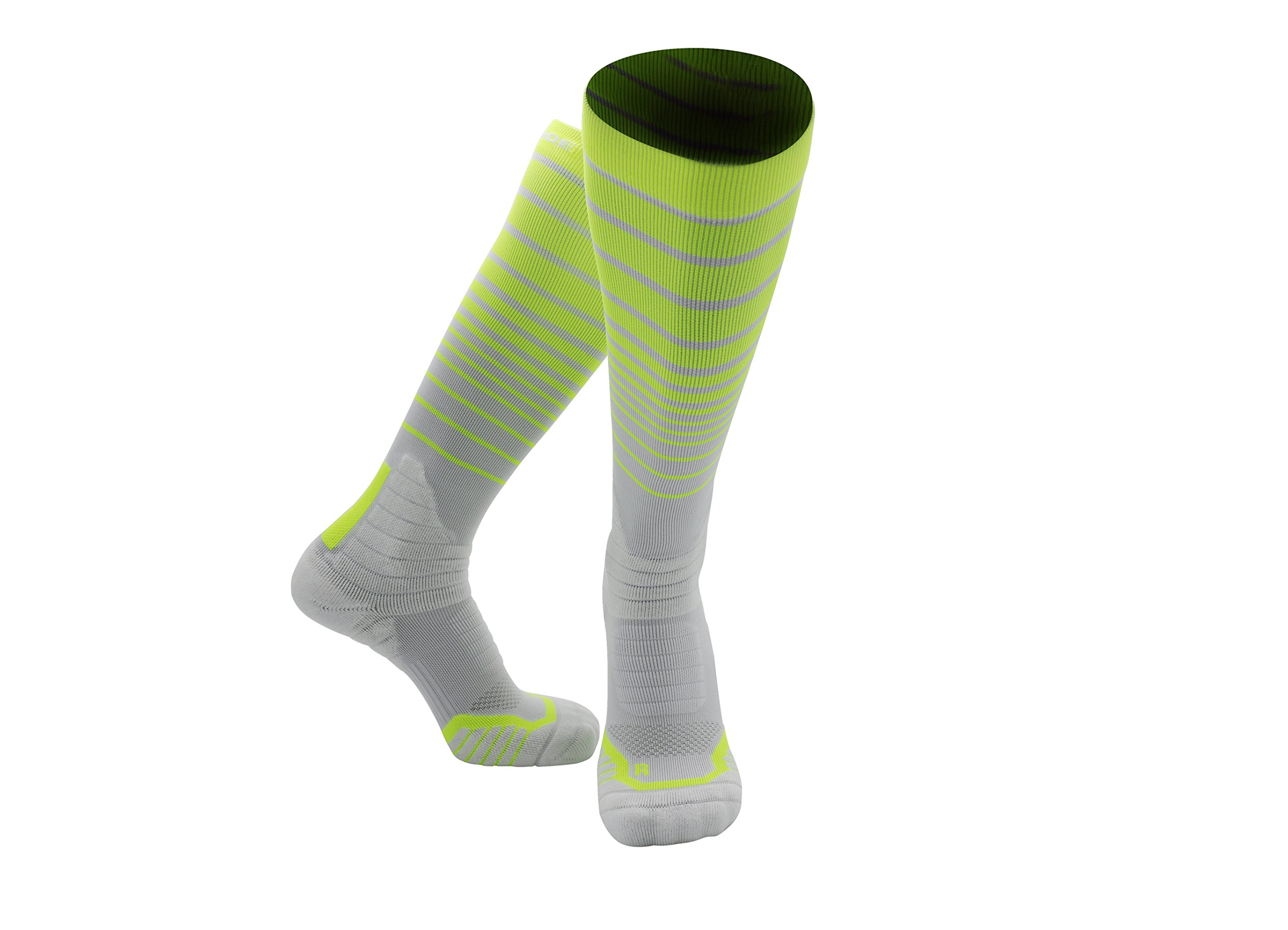 PRO ATHLETIC COMPRESSION SOCKS WOMEN & MEN - Highest Quality For ALL In/Outdoor Sports, GYM, Running, Sleeping, Long Walks/Stand/Sit, Diabetic, Maternity, Traveling, (S-XL Sizes 4-14 Unisex)White