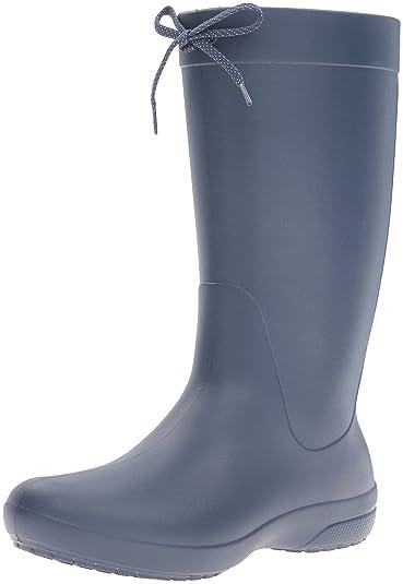 54ff5a067ac28a crocs Damen Freesail Rain Boot Women Gummistiefel Schwarz  Amazon.de ...