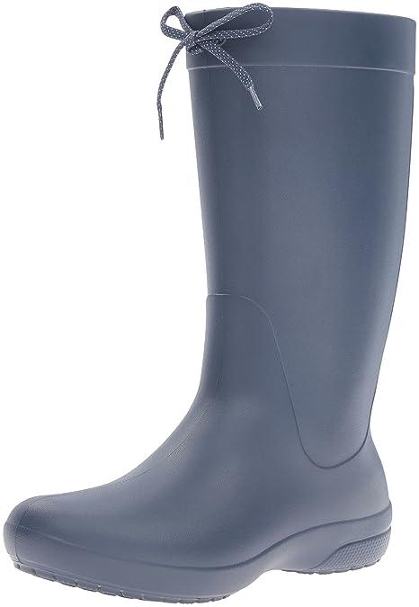half off d6c63 ed331 crocs Damen Freesail Rain Boot Women Gummistiefel, Schwarz