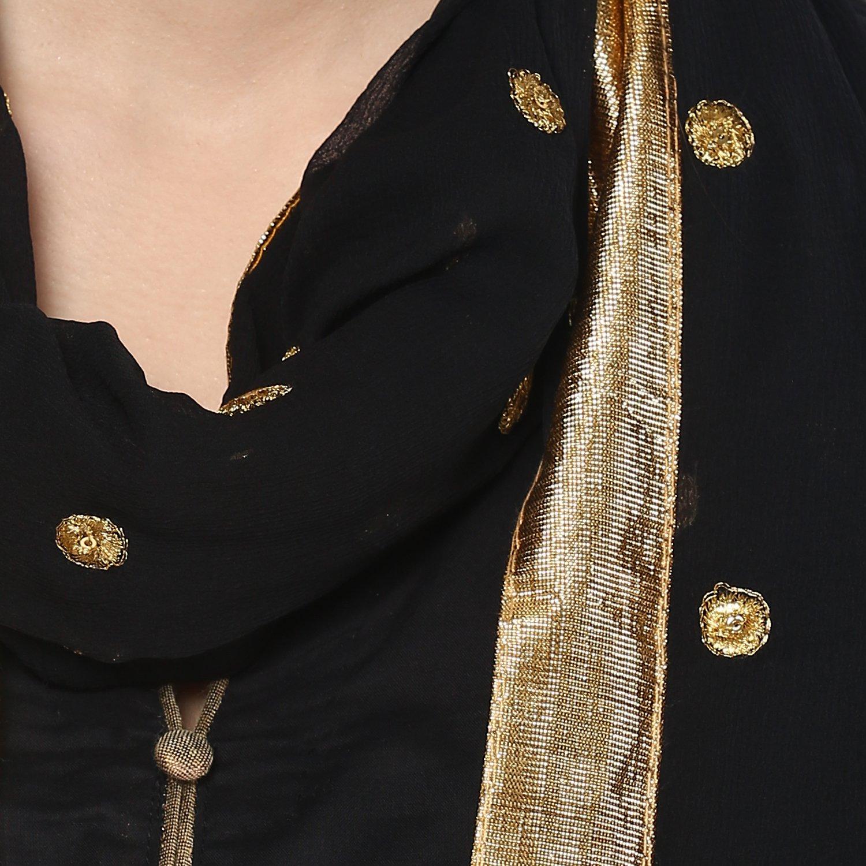 Chiffon Dupatta with Elegant Embroidered Motifs,Black by Dupatta Bazaar (Image #6)