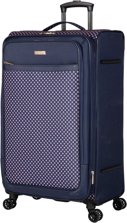 Navy Red Isaac Mizrahi Soho 24 8-Wheel Spinner Luggage
