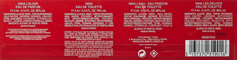 Amazon.com : Nina Ricci Women Perfume Set, 3 Count : Beauty