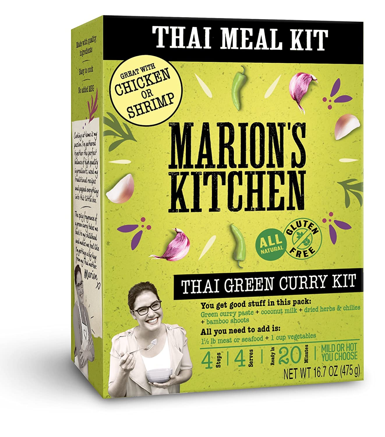 Thai Green Curry Meal Kit By Marion S Kitchen 5 Pack Quick Easy All Natural Thai Home Cooking