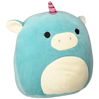 "Squishmallow Kellytoy 13"" Blue Unicorn Super Soft Squishy Plush Toy Pillow Pet, Turquoise: Home & Kitchen"