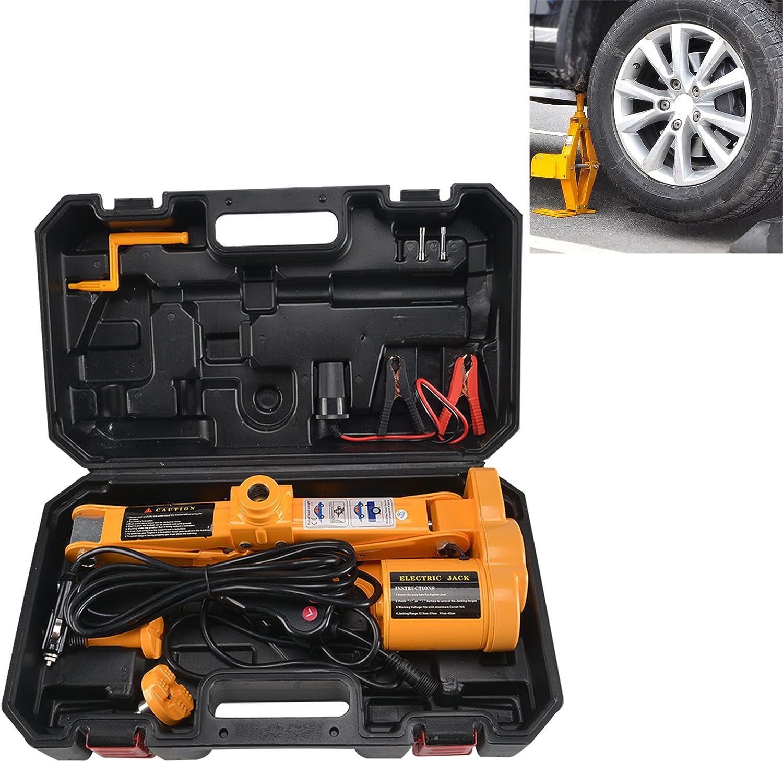 Jueyan 12v Scherenwagenheber Elektrischer Wagenheber Kfz Hydraulikheber Autoheber Auto Pkw Scherenlift 2 5t Reifenwechsel Werkzeug Auto