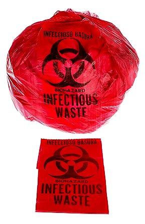 Amazon.com: Biohazard - Bolsa de basura (10 galones, 24.0 x ...