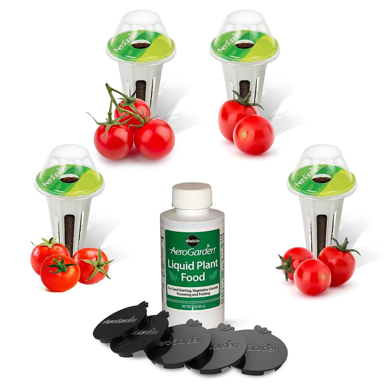 Kit de capsules de graines de tomates cerise rouges traditionnelles Miracle-Gro AeroGarden Bounty AeroGrow 809501-0205