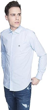 Popelin Cotton Sirung - Camisa de Hombre Manga Larga 100 ...