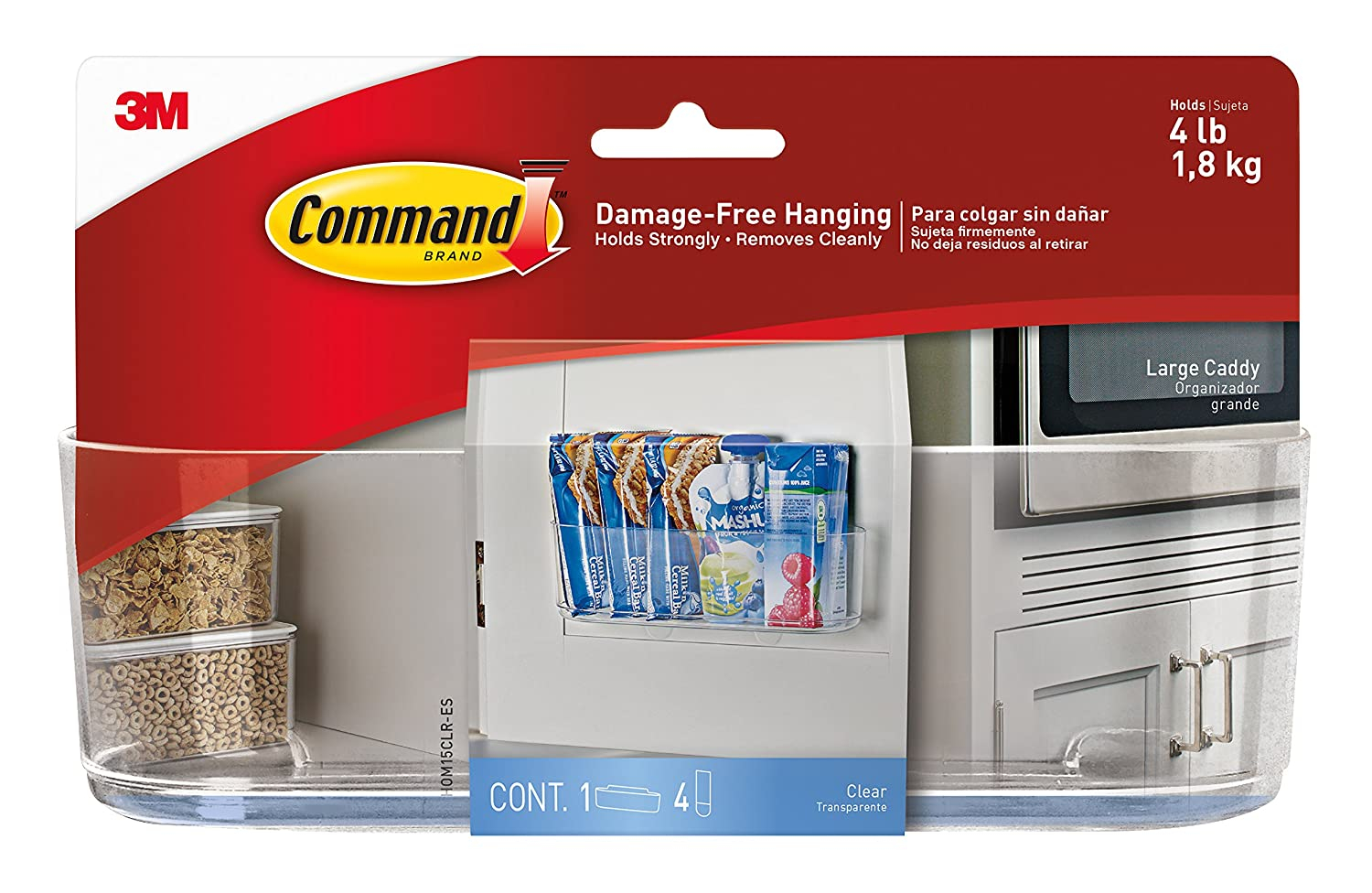 Command Large Caddy, Clear HOM-15