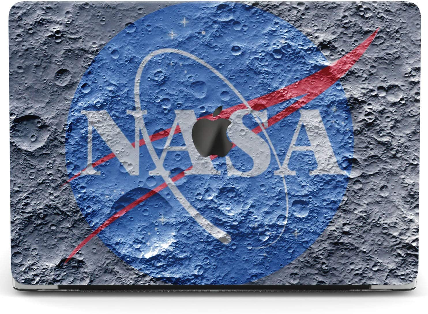 Wonder Wild Case For MacBook Air 13 inch Pro 15 2019 2018 Retina 12 11 Apple Hard Mac Protective Cover Touch Bar 2017 2016 2020 Plastic Laptop Print NASA Logo Moon Surface Texture Science Lunar Planet
