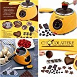 Bulfyss Chocolate Fountain Fondue Melt Pot, Household Diy Dessert Machine ,Electric 220V 25W ,Oven Melting Pot 0.25 L