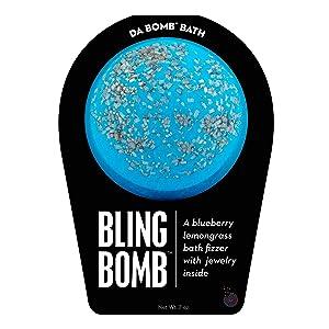 Da Bomb Bling Bath Bomb, Blue