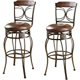 Amazon Com 3 Piece Retro Black Bistro Table Amp Pub Set