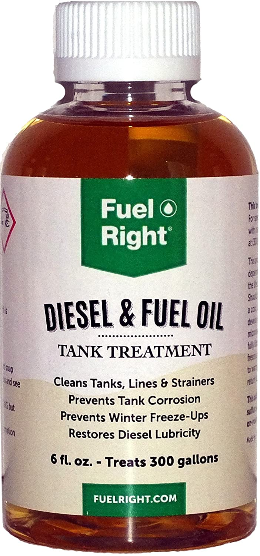 Fuel Right - Diesel and Fuel Oil Tank Treatment Additive - Cleans Tanks, Prevents Corrosion, Dissolves Sludge and Prevents Fuel Freeze-Ups, 15K 6 oz Bottle