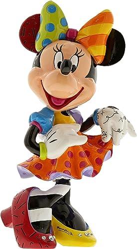 Enesco Disney by Britto Minnie Mouse Bling 90th Celebration Stone Resin Figurine, Multicolor