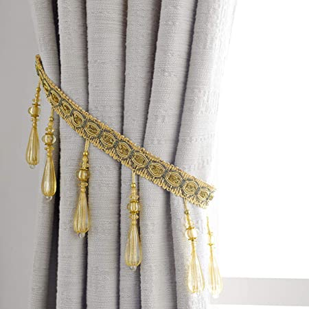 Pair of curtain holdback tieback #82 choose from 3 color