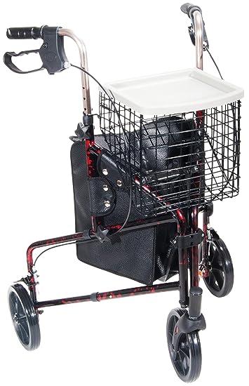 Amazon.com: Tres Rueda Andador Rollator Capacidad de peso ...