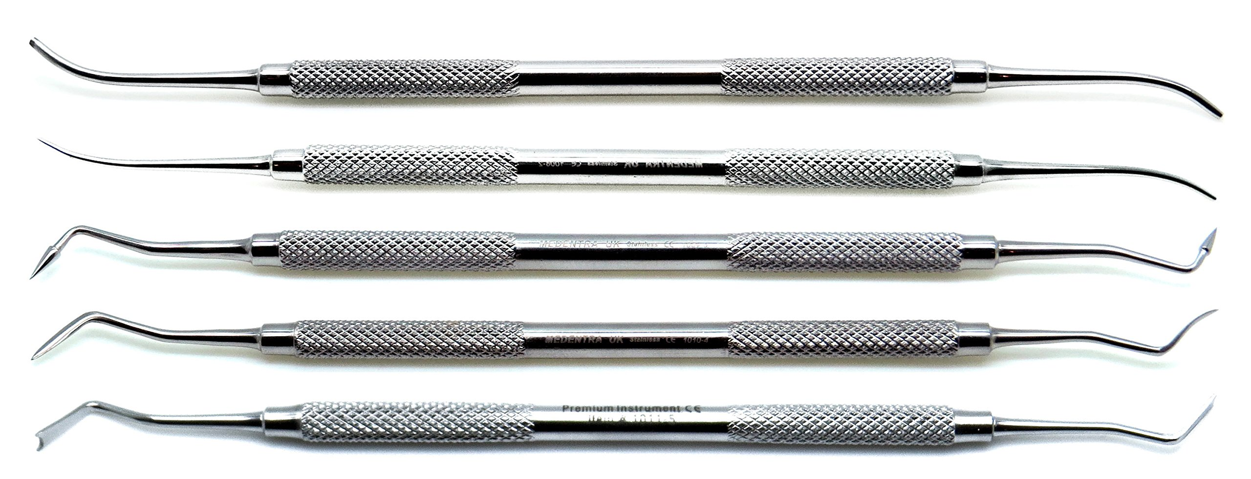 Dental Pk Thomas Wax Carvers P.K 1, 2, 3, 4, 5 Restorative Double Ended Waxing Modelling Instruments 5 Pieces Set by Superior (Image #2)