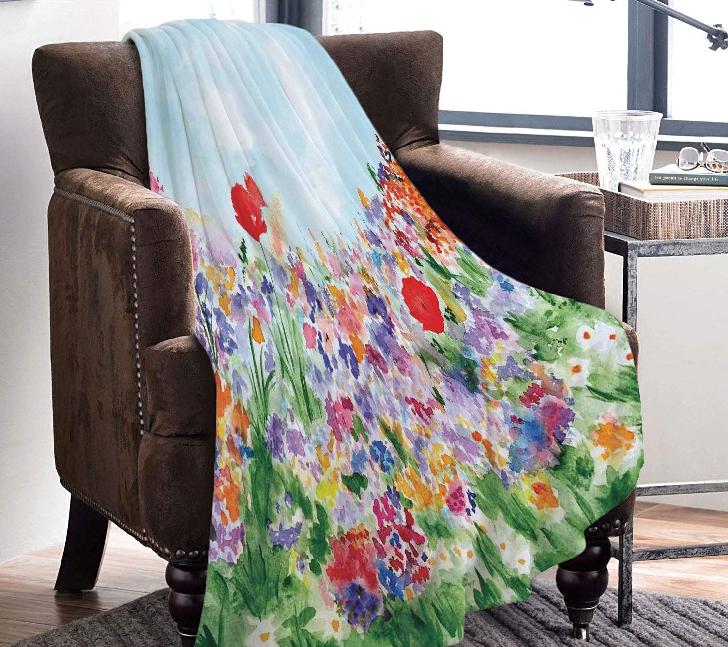 Amazon.com: YOLIYANA Blanket Bedspread Soft Fleece Throw ...