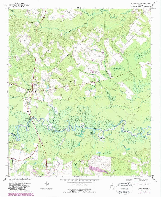 Map Of Jacksonville Georgia.Amazon Com Yellowmaps Jacksonville Ga Topo Map 1 24000 Scale 7 5