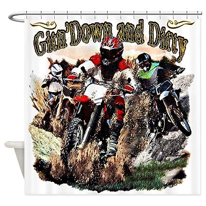 Shower Curtain Gitn Down And Dirty Dirt Bikes