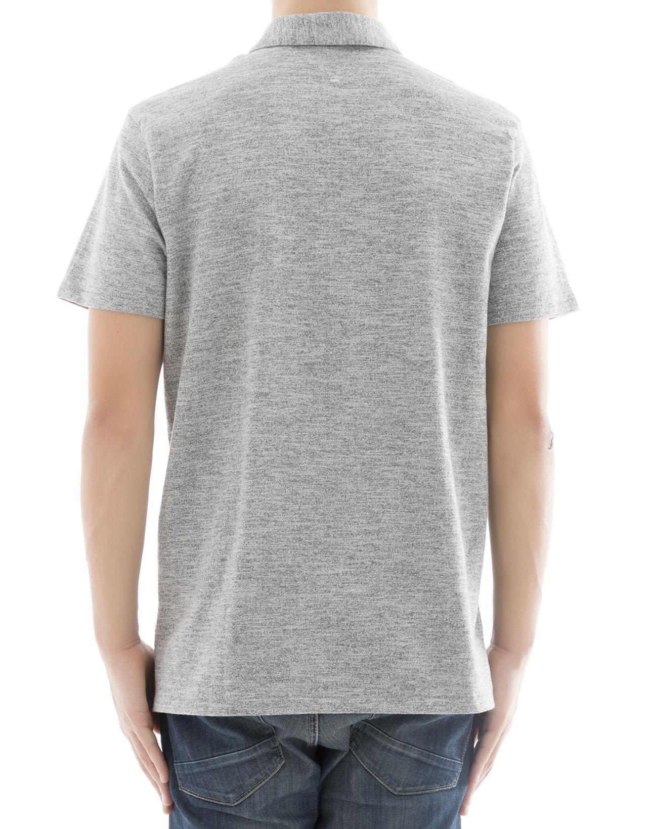 rag & bone Men's M000t076c030 Grey Cotton Polo Shirt by rag & bone (Image #3)
