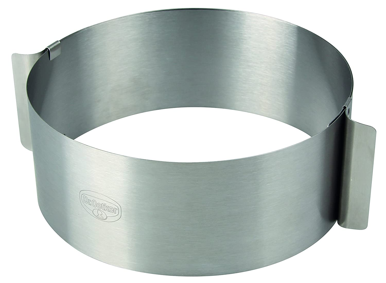 Dr. Oetker 1919Varino torte Ring, 16–30cm, Acciaio Inox, Argento, 16,5x 9cm 16-30cm