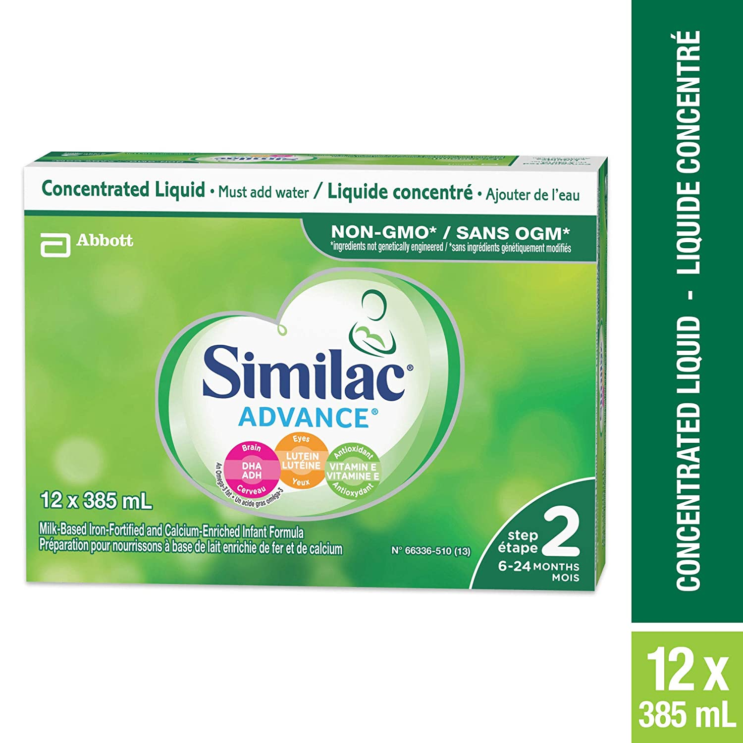 Similac Advance Step 2 Infant Formula, Concentrated Liquid, Pack of 12 Abbott Laboratories Canada