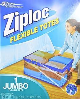 Ziploc Flexible Totes Jumbo 22 Gallon Qty 1 Bag (Pack of 2)  sc 1 st  Amazon.com & Amazon.com: Ziploc Flexible Extra Extra Large Clothes Storage Bag ...