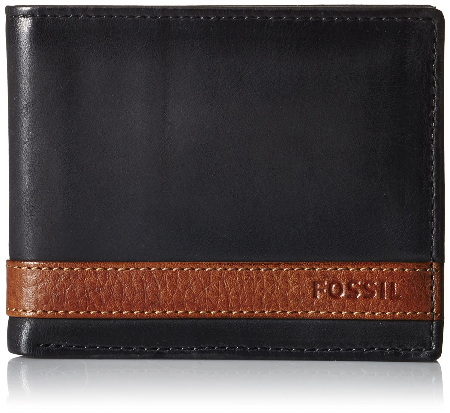 735e60c819a8 Fossil Men's Quinn Leather Bifold Flip ID Wallet