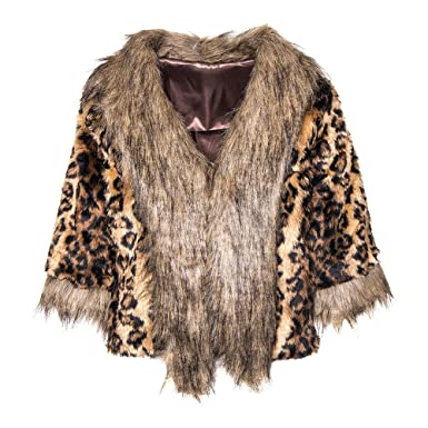 442c38fa3a948 Bleeding Heart Leopard Print Faux Fur Jacket (Multicoloured) -  Small Medium  Amazon.co.uk  Clothing
