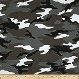 Windham Fabrics Army Camo Fabric by The Yard, Grey