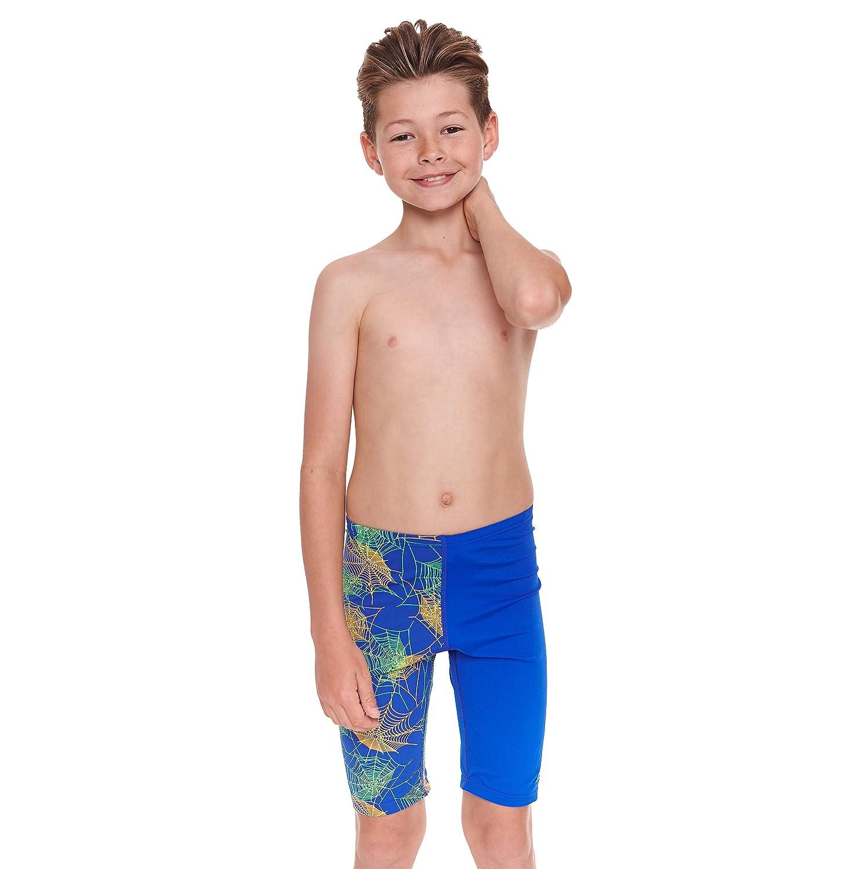 Zoggs, costume aderente da bambino, modello jammer, Ragazzi, Hydroweb, Blue/Multi-Colour, 6-7 anni 604017123