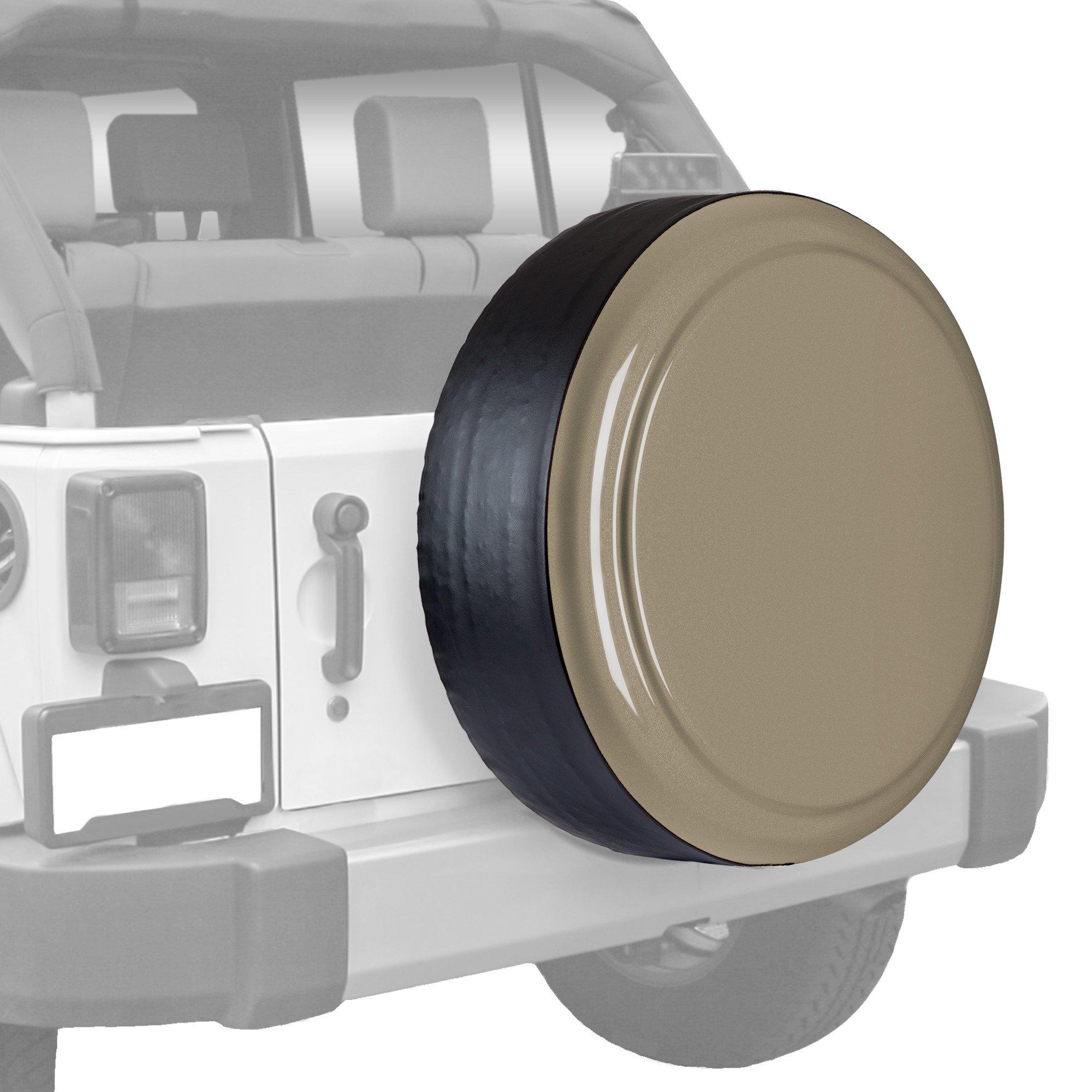Boomerang Jeep Wrangler (JK) - 32'' Color Matched Rigid Tire Cover (Plastic Face & Vinyl Band) - Gobi