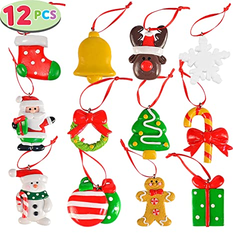 Polymer Clay Christmas Tree Decorations.Amazon Com Joyin 2 Handmade Christmas Mini Ornaments Set