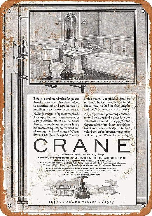 MNUT 1925 Crane Corwith Bath - Cartel de Metal (20 x 30 cm ...