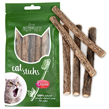 5 dentasticks (sticks para gatos) de Pretty Kitty – La Higiene dental con dentasticks