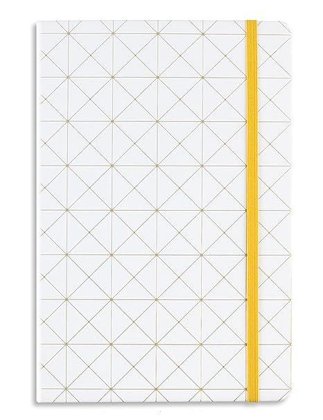 Amazon.com: Miliko Geometry Gold Blocking - Cuaderno de tapa ...