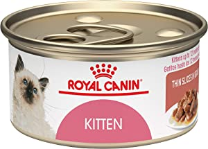 Royal Canin Feline Health Nutrition Thin Slices in Gravy Wet Kitten Food, 3 oz., Case of 24