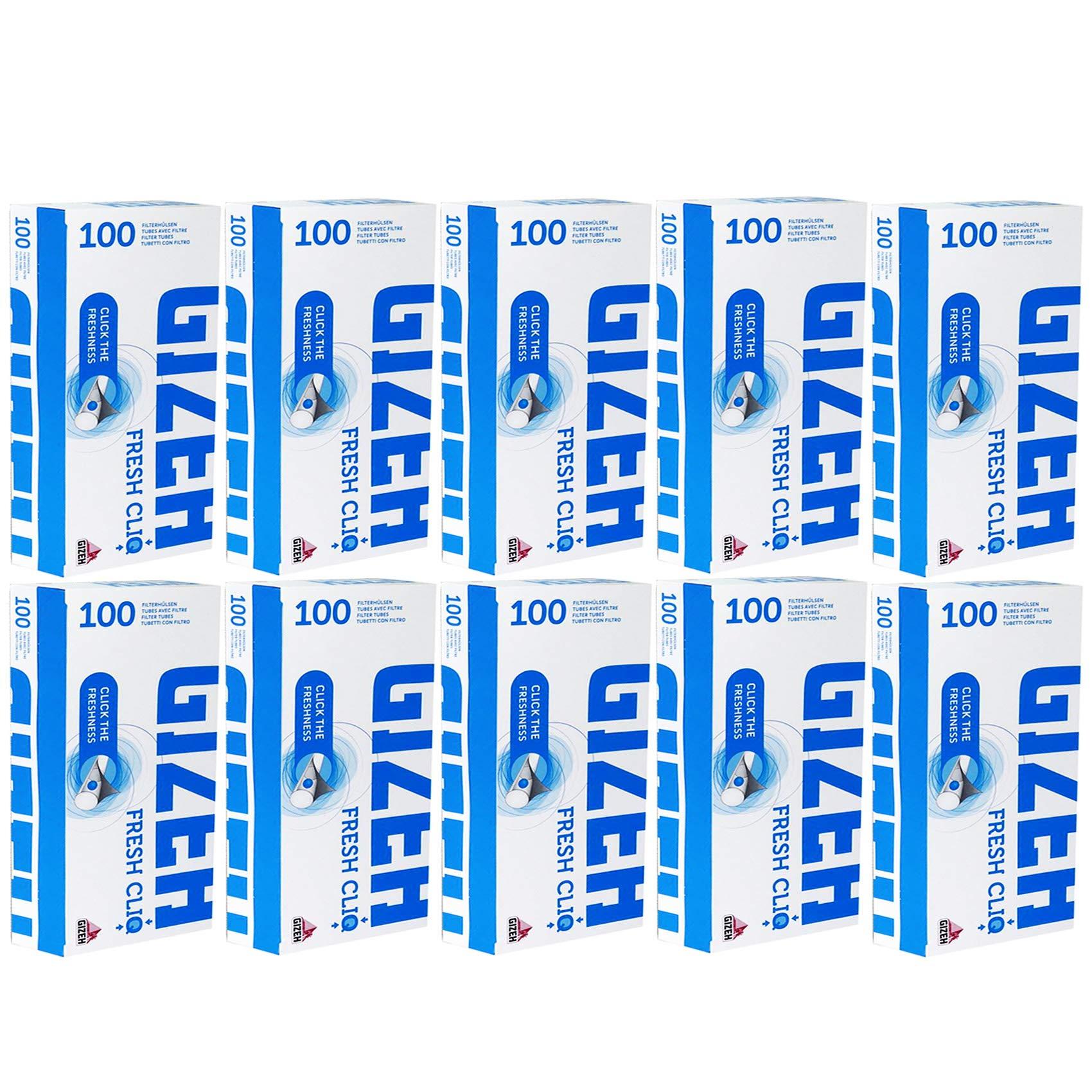 200-2000 x GIZEH Filter MENTHOL CRUSHBALL Smoking TUBES Cigarette Tobacco Fresh CLIQ Capsule Tips UK FREE P&P (1000 x GIZEH MENTHOL CLIQ TUBES)