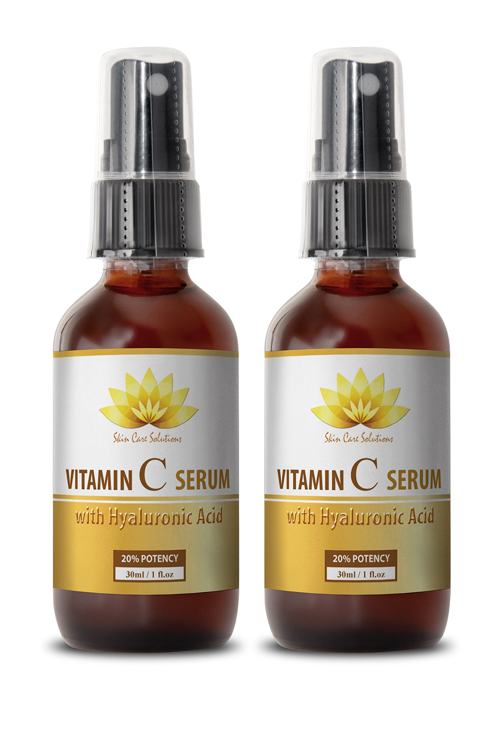 Vitamin c face serum - VITAMIN C SERUM With Hyaluronic Acid - Face care for women - 2 bottles