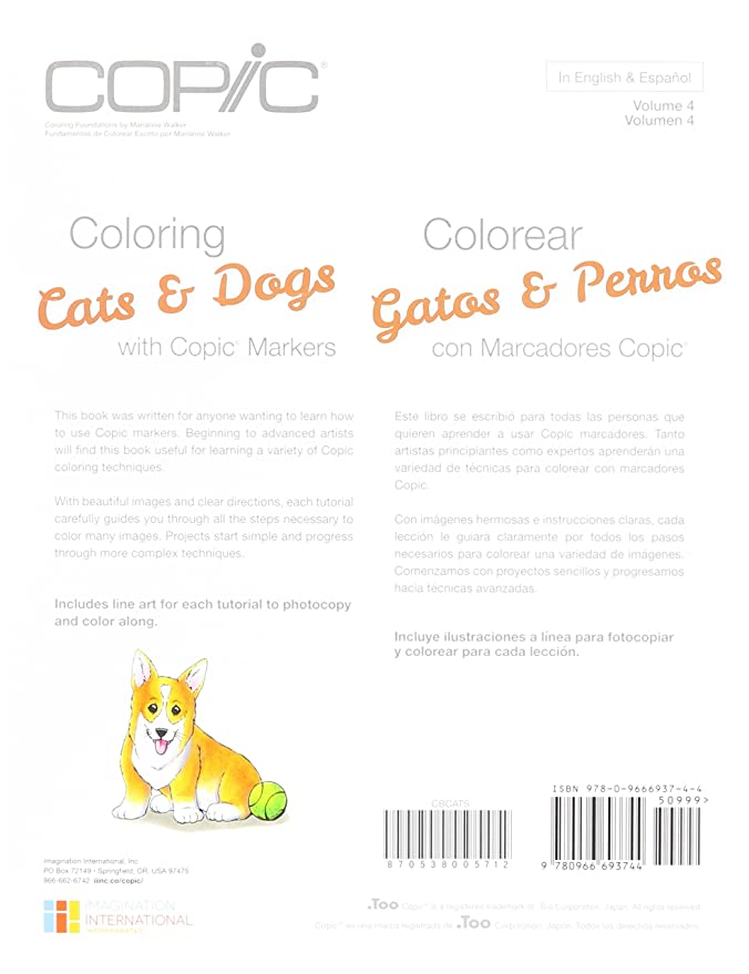 Amazon.com : Copic Cats & Dogs Coloring Book CBCATS : Office Products