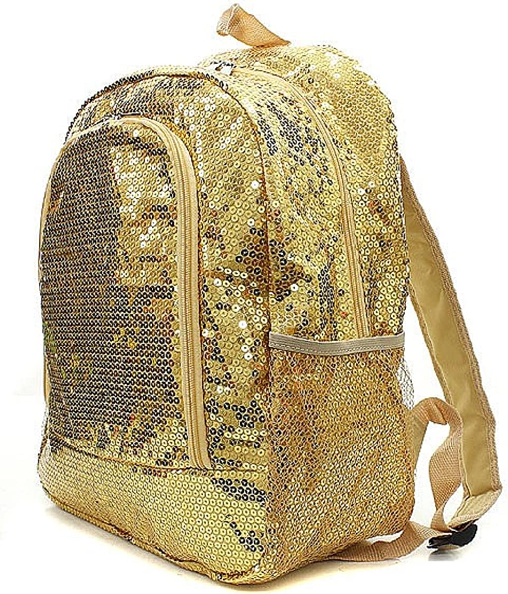 Sequin Solid Color Canvas Backpack