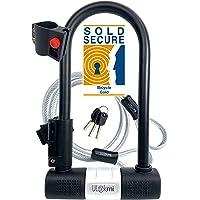 Candado de Bicicleta U con Cable Candado de Antirrobo de Bici Super Fuerte Grillete de 14 mm y Cable de Seguridad de 10…