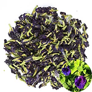 TooGet Pure Dried Pure Butterfly Pea Flowers, Natural Clitoria ternatea Herbals Blue Tea Wholesale, Top Grade - 2 OZ