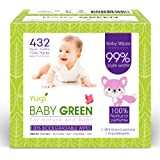 Biodegradable Baby Wipes Natural essential oils – Pack (6 Packs of 72) 432 – compostable 99% Pure Water Plastic FREE Moist Ne