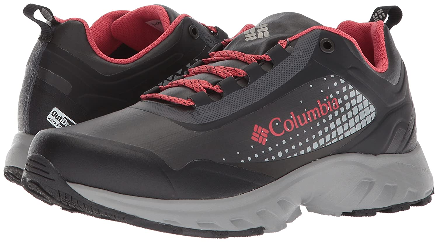 Columbia Women's Irrigon Shoe Trail Outdry Xtrm Hiking Shoe Irrigon B073RN2FXD 9.5 B(M) US|Black, Sunset Red af2004